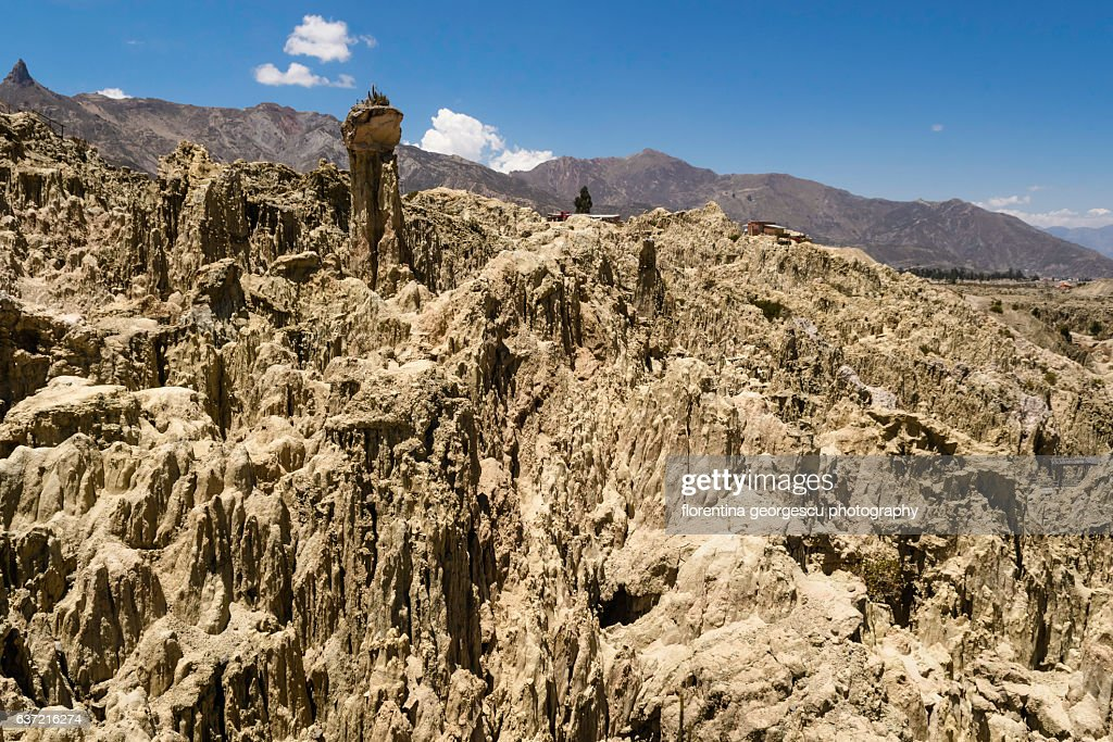Bizarre Rock Formations Of Valle De La Luna La Paz Bolivia High Res Stock Photo Getty Images
