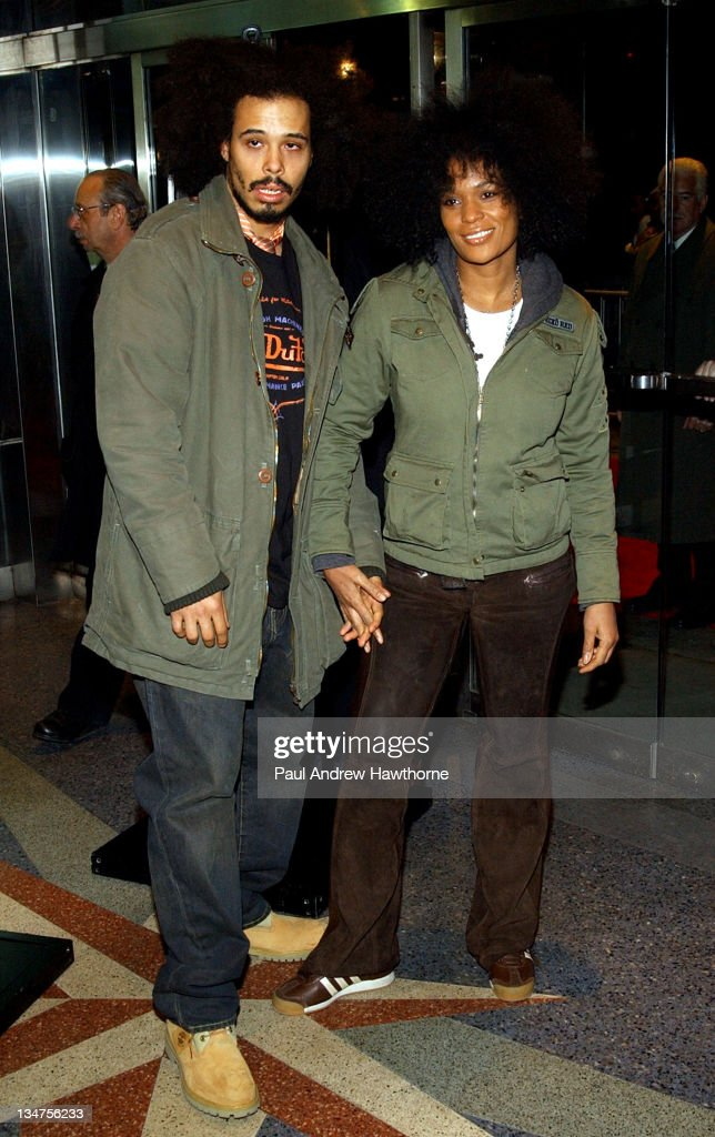 Bizarre Royale and DJ Beverly Bond during 'Never Die Alone' New York Premiere - Inside Arrivals at Chelsea West Cinemas in New York City, New York, United States.