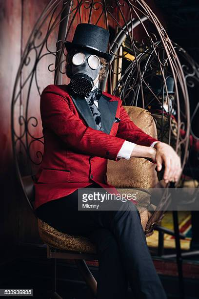 Bizarre Scientist with Gasmask 19th Century 'Time Machine' Style Portrait