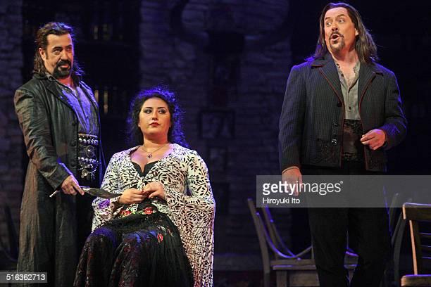 Bizet's 'Carmen' at the Metropolitan Opera House on Friday September 26 2014This imageFrom left Eduardo Valdes Anita Rachvelishvili and Malcolm...