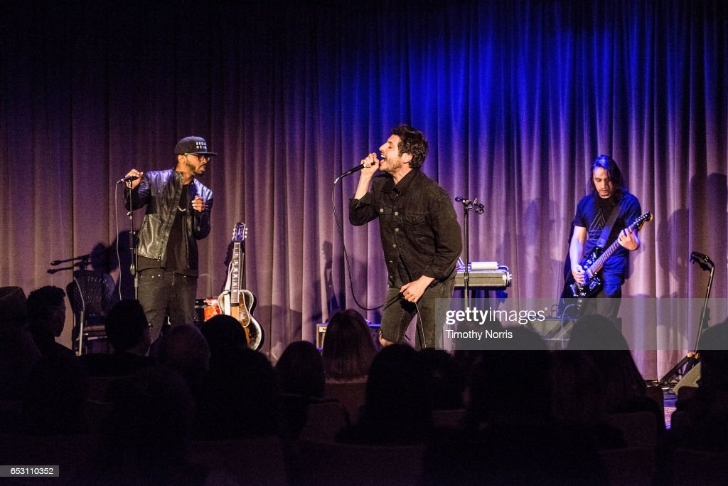Bizoh, Greg Cahn and Ozzy Doniz of Breaking Heights perform during The Music Behind 'Sun Records' at The GRAMMY Museum on March 13, 2017 in Los Angeles, California.