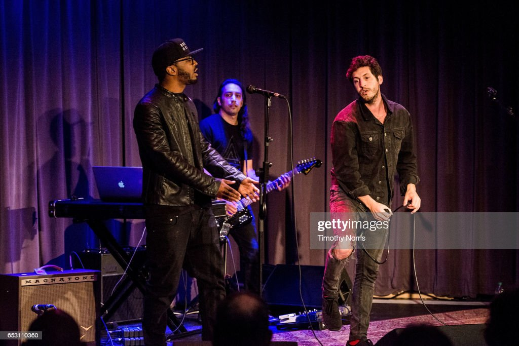 Bizoh, Ozzy Doniz and Greg Cahn of Breaking Heights perform during The Music Behind 'Sun Records' at The GRAMMY Museum on March 13, 2017 in Los Angeles, California.