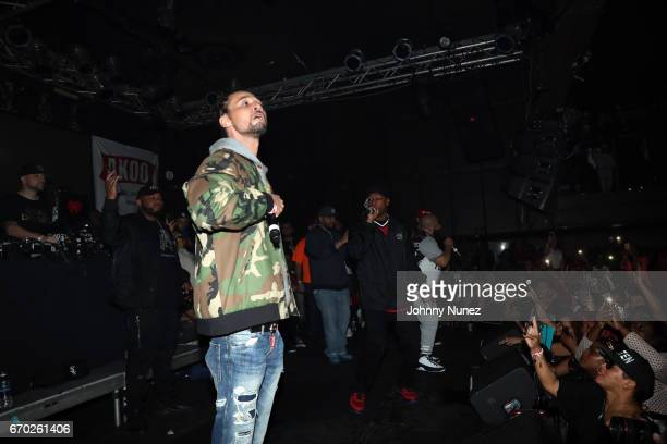 Bizzy Bone and Krayzie Bone perform at Pretty Lou's Birthday Charity Celebration Hosted By Fat Joe at Highline on April 18 2017 in New York City