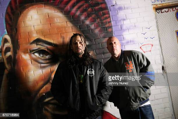 Bizzy Bone and Steve Lobel on set at the Bone Thugz N Harmony Changed The Story Video Shoot on April 19 2017 in New York City