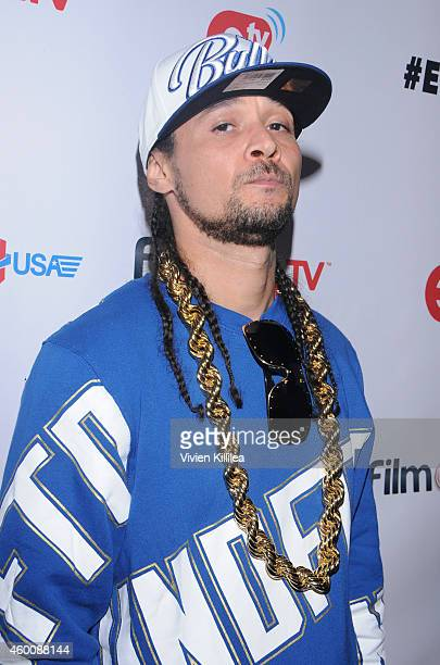 Bizzy Bone attends #ETHER Battle Rap Featuring Cassidy VS Dizaster at Belasco Theatre on December 6 2014 in Los Angeles California