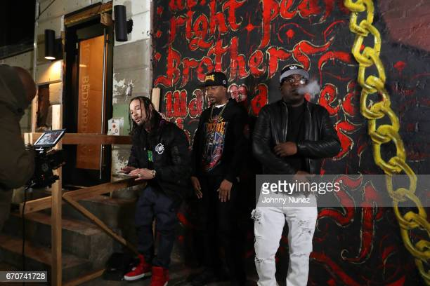 Bizzy Bone Krayzie Bone and Uncle Murda on set at the Bone Thugz N Harmony Changed The Story Video Shoot on April 19 2017 in New York City
