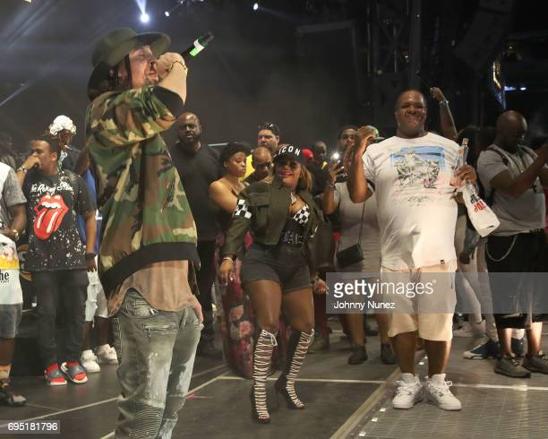 Bizzy Bone Lil Kim and Fat Joe perform at the 2017 Hot 97 Summer Jam at MetLife Stadium on June 11 2017 in East Rutherford New Jersey