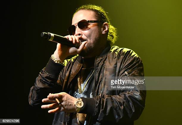 Bizzy Bone of Bone ThugsNHarmony performs during the Snoop Dogg's Puff Puff Pass Tour at Fox Theater on December 12 2016 in Oakland California