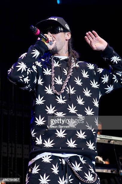 Bizzy Bone performed during the 935 KDAY Presents Krush Groove 2014 at The Forum on April 19 2014 in Inglewood California