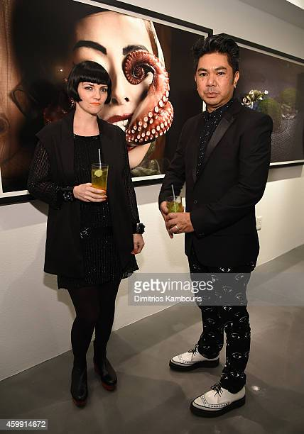 Bj Formento and Richeille Formento attend Chrome Hearts Celebrates The Miami Project During Art Basel With Zoe Kravitz at Miami Design District on...