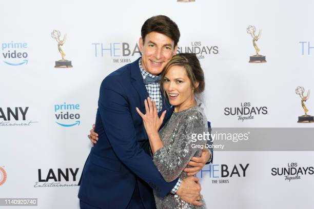 Bj Korros and Teri Ivens attend The Bay The Series PreEmmy Red Carpet Celebration at The Shelby on May 2 2019 in Los Angeles California