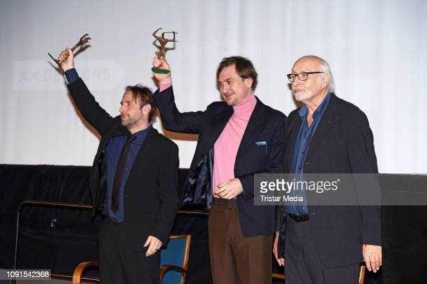 Bjarne Maedel Karl Dall Lars Eidinger during the Ernst Lubitsch Award 2019 at Kino Babylon on January 30 2019 in Berlin Germany