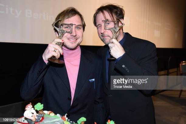 Bjarne Maedel Lars Eidinger during the Ernst Lubitsch Award 2019 at Kino Babylon on January 30 2019 in Berlin Germany