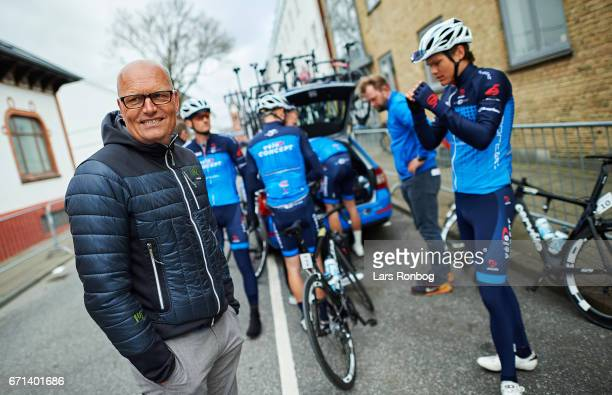 Bjarne Riis, director of Team VeloCONCEPT looks on prior to the danish cycling race Grand Prix Herning on April 22, 2017 in Herning, Denmark.