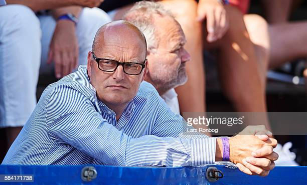 Bjarne Riis looks on during stage two at the Postnord Danmark Rundt race from Romo to Sonderborg on July 28, 2016 in Sonderborg, Denmark.