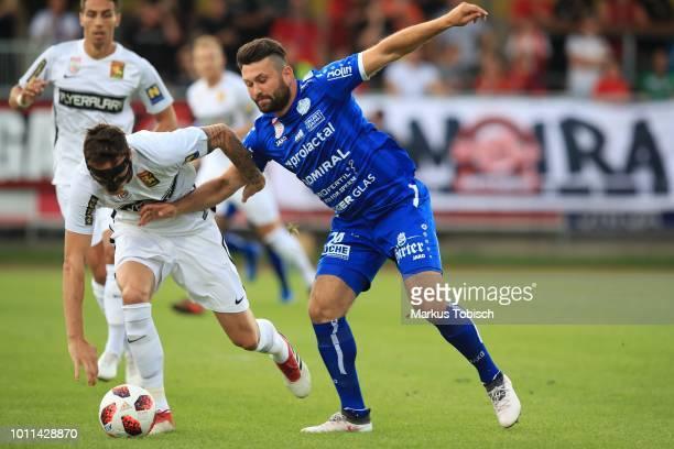 Bjarne Thoelke of Admira and Dario Tadic of Hartberg during the tipico Bundesliga match between TSV Hartberg and FC Admira at Profertil Arena on...
