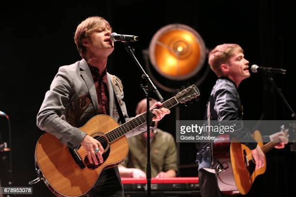Bjoern Dixgard and Jens Siverstedt of the band Mando Diao perform during the ABOUT YOU AWARDS at the Mehr Theater in Hamburg on May 4 2017 in Hamburg...