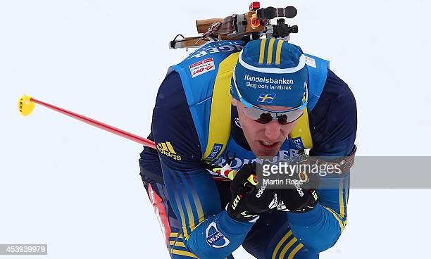 Bjoern Ferry of Sweden competes in the men's 10km sprint event during the IBU Biathlon World Cup on December 6 2013 in Hochfilzen Austria