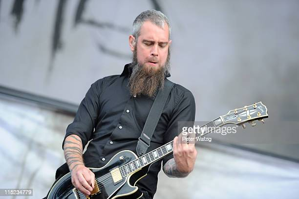 Bjoern Gelotte of In Flames performs on stage during the second day of Rock Am Ring on June 04 2011 in Nuerburg Germany