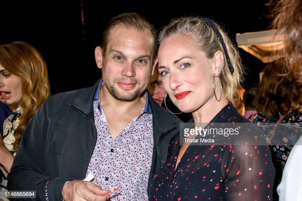 Bjoern Geske and Eva Mona Rodekirchen at the 11th Golf Charity Cup golf tournament at Golf and Country Club Seddiner See on May 27 2019 in Michendorf...