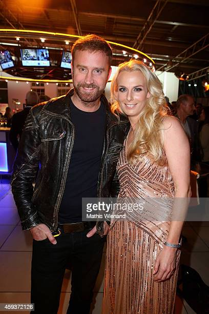 Bjoern Goedde and Angie Herzog attend the RTL Telethon 2014 on November 21 2014 in Cologne Germany