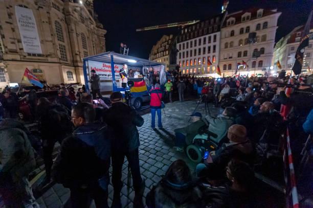 DEU: Bjoern Hoecke Joins 200th Pegida March