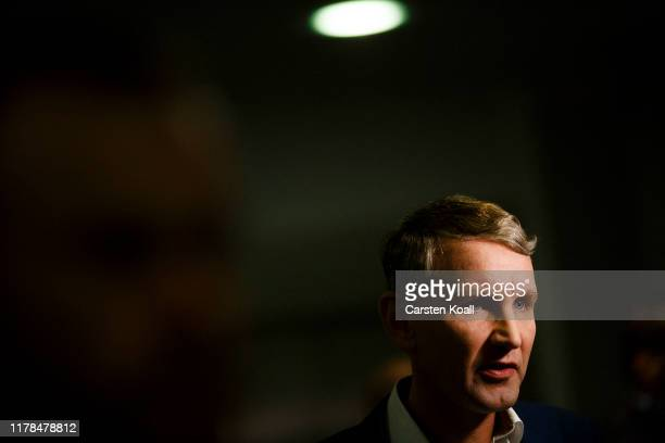 Bjoern Hoecke, lead candidate of the right-wing Alternative for Germany , walks through the corridors in the Thuringia state parliament building, on...