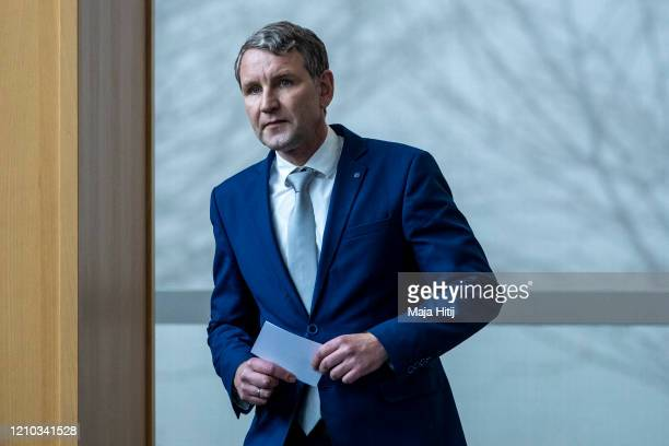 Bjoern Hoecke, leader of the right-wing Alternative for Germany in the German state of Thuringia votes during election of a new governor of Thuringia...