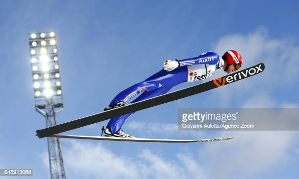 Bjoern Kircheisen of Germany competes during the FIS Nordic World Ski Championships Men's Nordic Combined HS100/10k on February 24 2017 in Lahti...