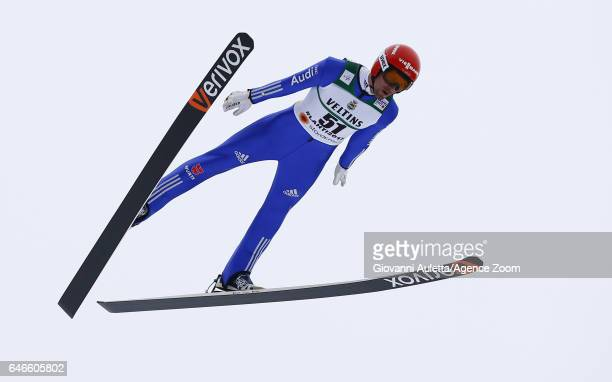 Bjoern Kircheisen of Germany competes during the FIS Nordic World Ski Championships Men's Nordic Combined HS130/10k on March 1 2017 in Lahti Finland