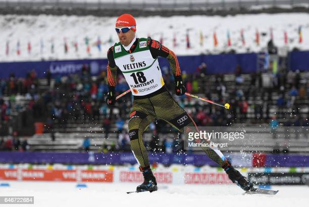 Bjoern Kircheisen of Germany competes in the Men's Nordic Combined 10KM Cross Country during the FIS Nordic World Ski Championships on March 1 2017...