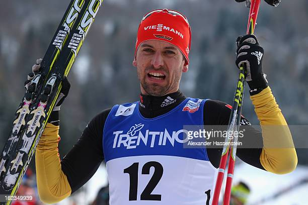 Bjoern Kircheisen of Germany looks on following the Men's Nordic Combined 10km at the FIS Nordic World Ski Championships on February 22 2013 in Val...