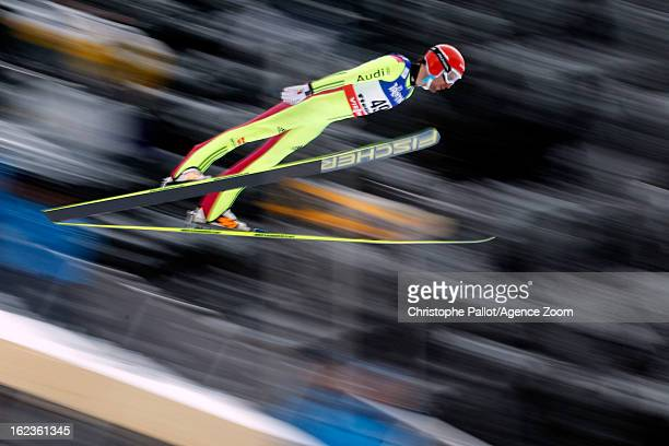 Bjoern Kircheisen of Germany takes the bronze medal competes during the FIS Nordic World Ski Championships Nordic Combined HS106/10km on February 22...