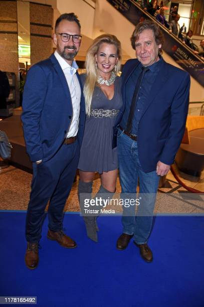 Bjoern Schroeder Claudia Norberg and Uwe Rohde during the VIP Late Night Shopping Party at Alstertal shopping mall on October 25 2019 in Hamburg...