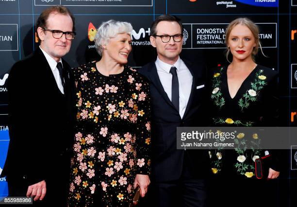 Bjor Runge Glenn Close Christian Slater and Annie Starke attend the red carpet of the closure gala during 65th San Sebastian Film Festival at Kursaal...