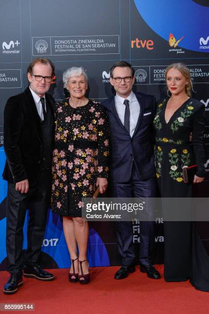 Bjor Runge Glenn Close Christian Slater and Annie Starke attends the red carpet of the closure gala during 65th San Sebastian Film Festival at...