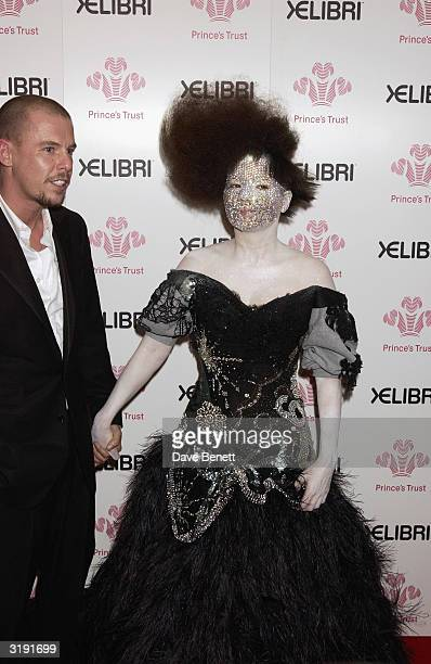 Bjork and Alexander McQueen attend 'Fashion Rocks for the Prince's Trust' at the Royal Albert Hall on October 15 2003 in London The event combined...