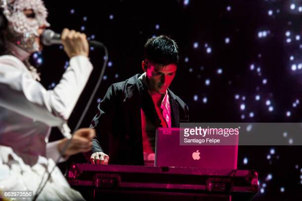 Bjork and Arca perform onstage at the 2017 Ceremonia Festival on April 2 2017 in Toluca Mexico