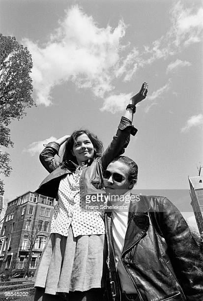 Bjork and Einar from The Sugarcubes posed in Amsterdam Netherlands on May 02 1988