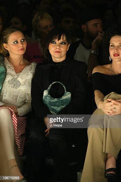 Bjork and Shannon Factor wearing Alvin Valley pants and Judith Ripka jewelry