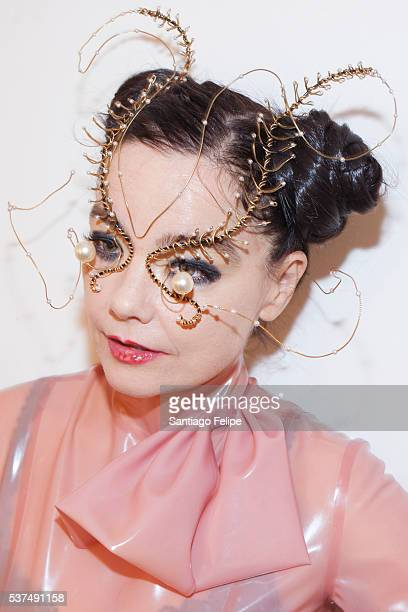 Bjork attends Bjork Digital Media Preview at Carriageworks on June 2 2016 in Sydney Australia Bjork Digital is the premiere of the musician's new...