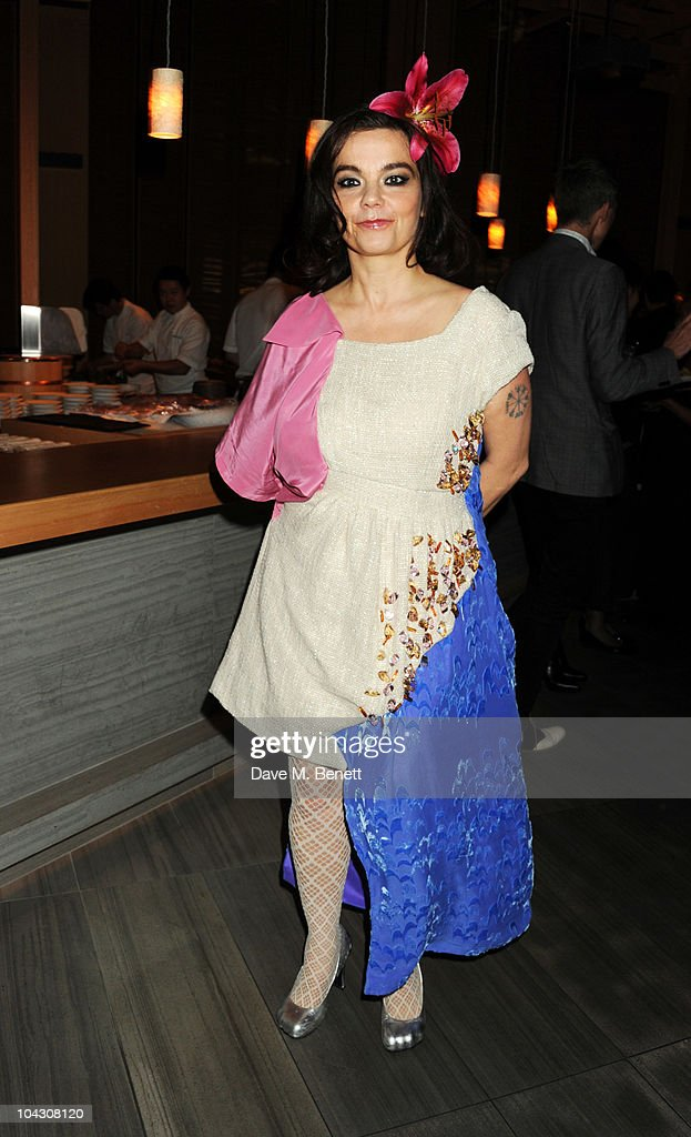 Bjork attends private dinner hosted by AnOther Magazine to celebrate the latest cover star Bjork at Sake No Hana on September 20, 2010 in London, England.