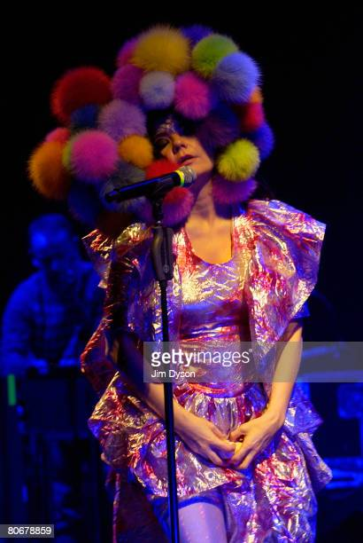 Bjork performs at Hammersmith Apollo during her Volta world tour on April 14 2008 in London England