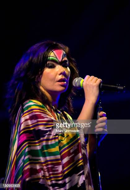 Bjork performs on stage during the Big Day Out at Parklands on January 20 2008 on the Gold Coast Australia