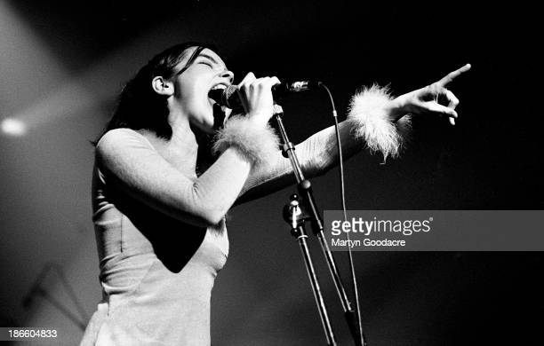 Bjork performs on stage with The Sugarcubes in Paris , France, 1990.