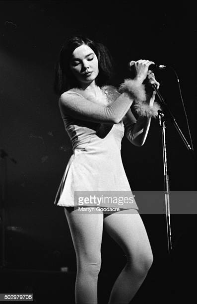 Bjork performs on stage with The Sugarcubes in Paris France 1990