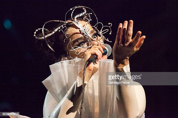 Bjork Performs onstage at Royal Albert Hall on September 21 2016 in London England