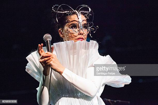 Bjork Performs onstage at Royal Albert Hall on September 21, 2016 in London, England.