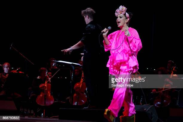 Bjork performs onstage at Tbilisi Concert Hall on October 31 2017 in Tbilisi Georgia