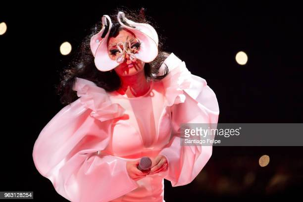 Bjork performs onstage during All Points East 2018 at Victoria Park on May 27 2018 in London England